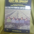 Donny Osmond sheet music Sweet and Innocent