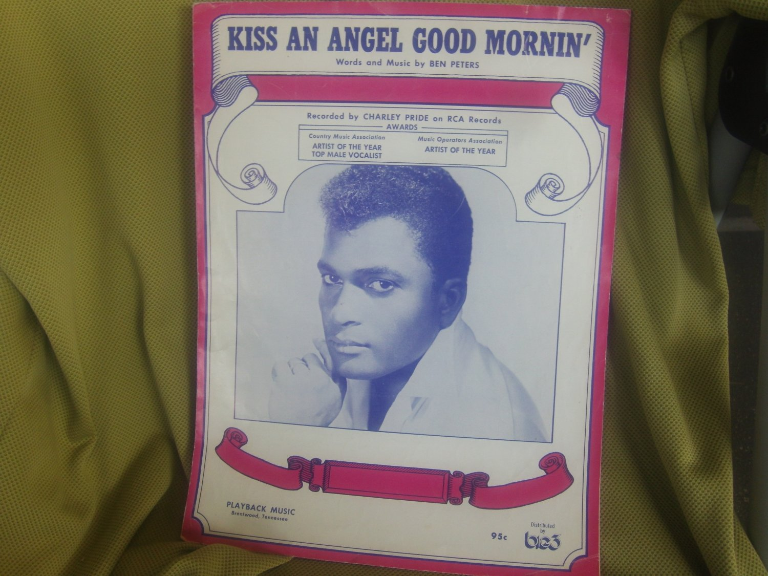 sheet music for Kiss an Angel Good Mornin' by Charley Pride