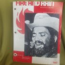 sheet music of fire and rain recorded by willie nelson