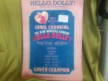 Vintage Sheet Music Hello Dolly Carol Channing Broadway Musical