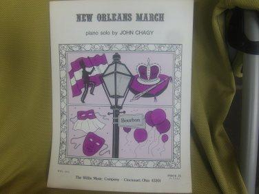 New Orleans March sheet music - Piano/Keyboard sheet music by John Chagy