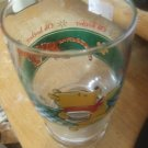 """DISNEY Drinking Glass WINNIE THE POOH TIGGER Cooler 6"""" high Tumbler OH BOTHER"""