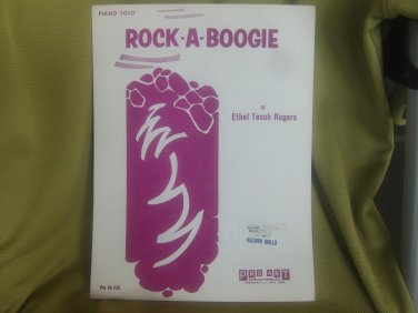 rock a boogie piano solo ethel rogers sheet music