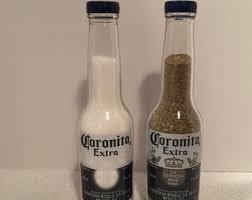 Corona (Coronita extra) 7 oz bottles salt and pepper shakers