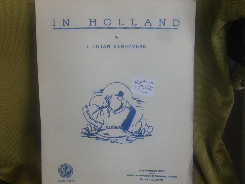 IN HOLLAND  Sheet music