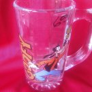 Vintage Walt Disney Goofy Tall Clear Glass Mug