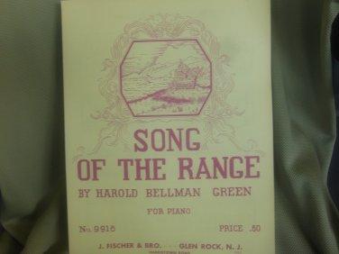 Harold Bellman Green: Song of the. Range.
