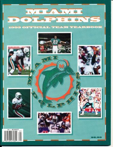 1993 Miami Dolphins Official Team Yearbook