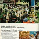 """Vintage 1960s magazine advertisement, Lufthansa Airlines, """"See Vacationland Germany with Lufthansa,"""""""
