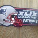 New England Patriots - Super Bowl 49 Champions 11x7 Sign