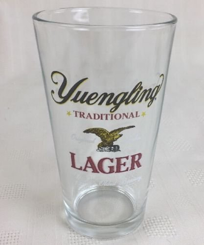 Yuengling Lager America's Oldest Brewery 16 oz Pint Beer Glass Barware