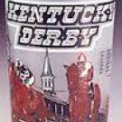 1980 Kentucky Derby Horse Racing Glass ~ Mint Julep ~ Genuine Risk Wins!