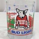 Vintage Rocks Glass Tumbler BUD LIGHT Spuds MacKenzie  Christmas 1987