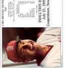 CARL YASTRZEMSKI 8x10 PHOTO Cooperstown HOF Induction Card BOSTON RED SOX #8