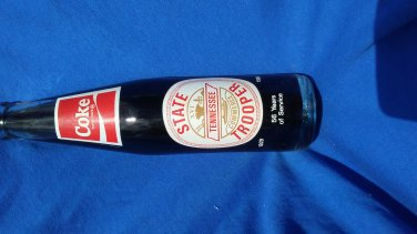 10 OZ COCA COLA COMMEMORATIVE BOTTLE-56 YEARS OF SERVICE STATE TENNESSEE TROOPER