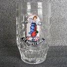 ST. PAULI GIRL GLASS DIMPLED BEER MUG / .25L GERMANY