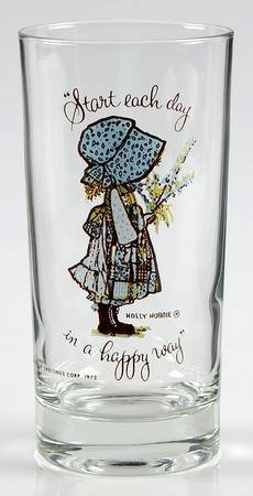 "holly hobby glass ""start each day"""