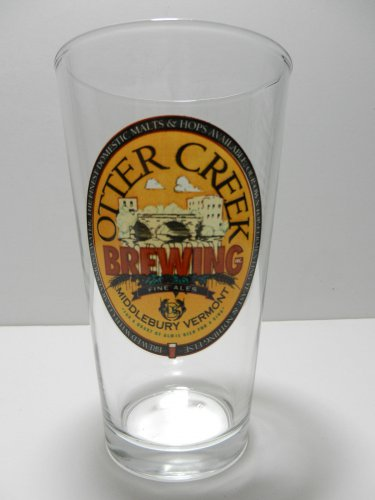 Otter Creek Brewing Pint Beer Glass Middlebury Vermont