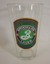 brooklyn lager pre-prohibition  brewing pint beer glass