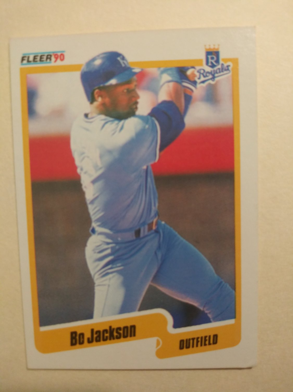 1990 Fleer #110 Bo Jackson ROYALS baseball card -free shipping