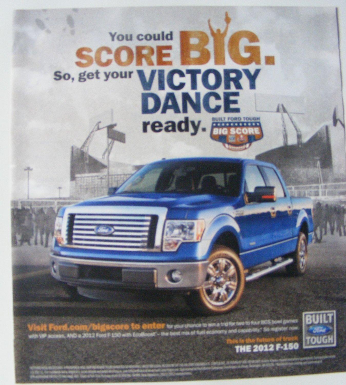 Ford F-150 Truck print magazine ad - Victory Dance
