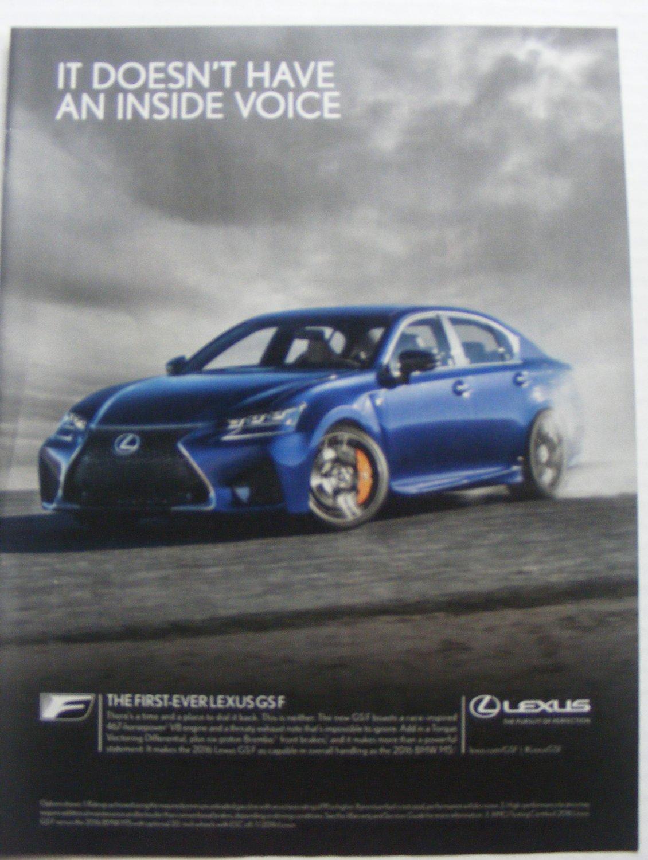 Lexus GSF original print magazine advertisemen