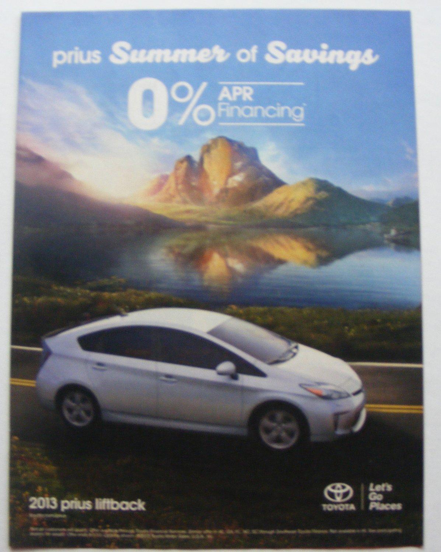 2013 Toyota Prius Liftback original magazine print ad