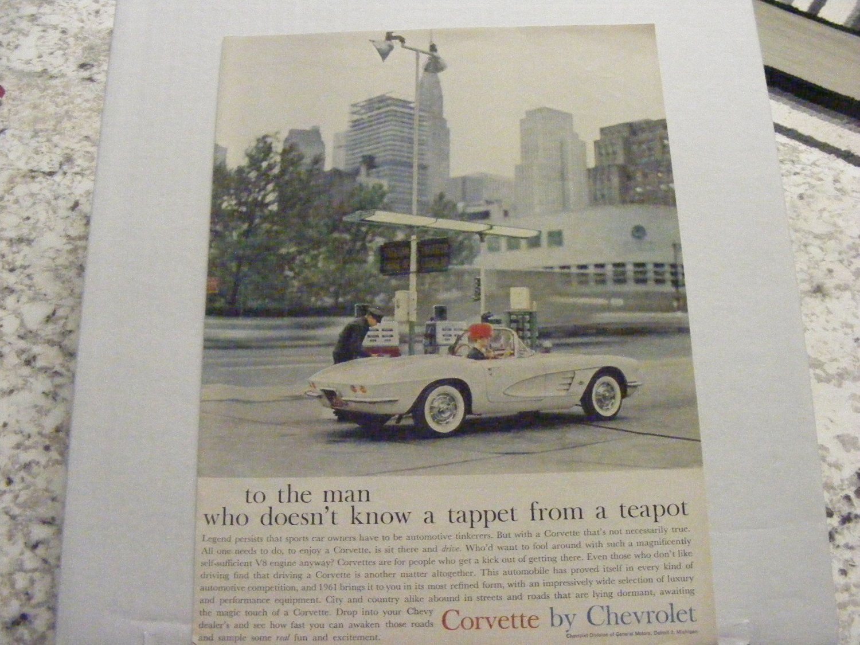 Chevy Corvette Original Print Magazine Advertisement