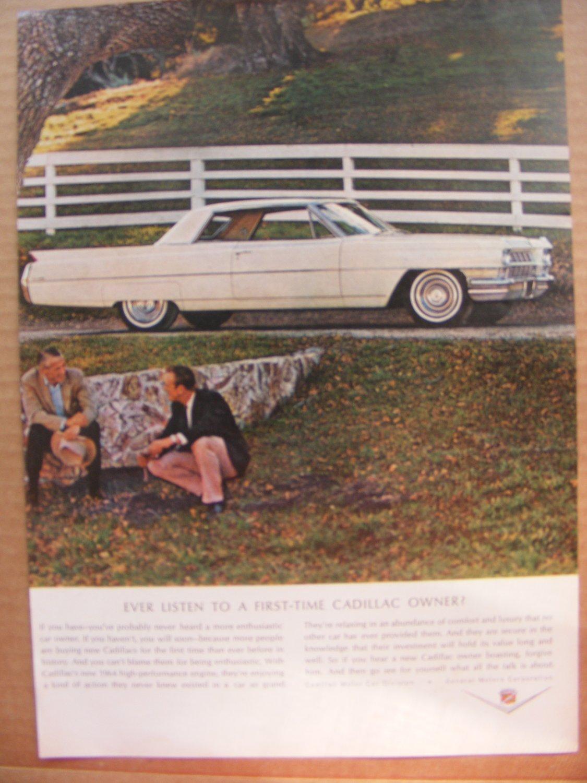 Cadillac Vintage Print Magazine Advertisement