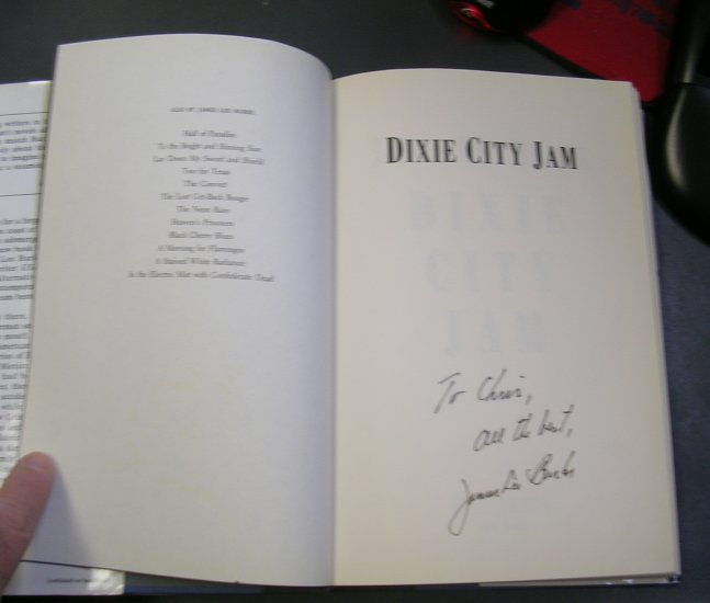 Dixie City Jam - James Lee Burke 1st Edition SIGNED BY AUTHOR