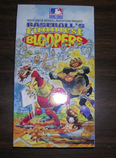 Baseball's Funniest Bloopers VHS Tape 1991