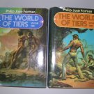 The World of Tiers Volumes 1 & 2 by Philip Jose Farmer BOMC Editions