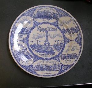 Kings Island International Street Commemorative Plate