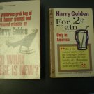 For 2 Cents Plain & So What Else is New? by Harry Golden, paperbacks