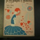 In My Bouquet of Memories Vintage Sheet Music 1928