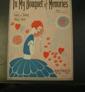 In My Bouquet of Memories Vintage Sheet Music 1928