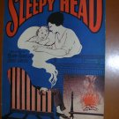 Sleepy Head Vintage Sheet Music 1926 illus by Starmer