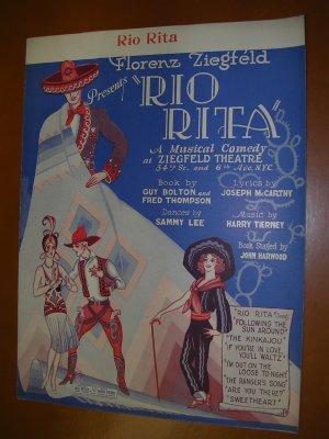 Rio Rita Vintage Sheet Music from Ziegfeld musical, 1926