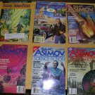 Science Fiction Magazines Lot of 6 Isaac Asimov & Fantasy & Science Fiction