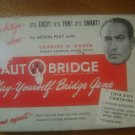 Vintage Charles Goren AutoBridge Play Yourself Bridge Game 1950