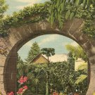 Vintage Postcard Moon Gate Widdrington Bermuda 1952
