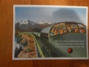 Northern Pacific Railway Vista-Dome Postcard vintage 1960's