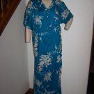 Vintage Hawaiian Kauai Casuals Shirt & Sarong Wrap Skirt Set Button Front Floral Tunic Top