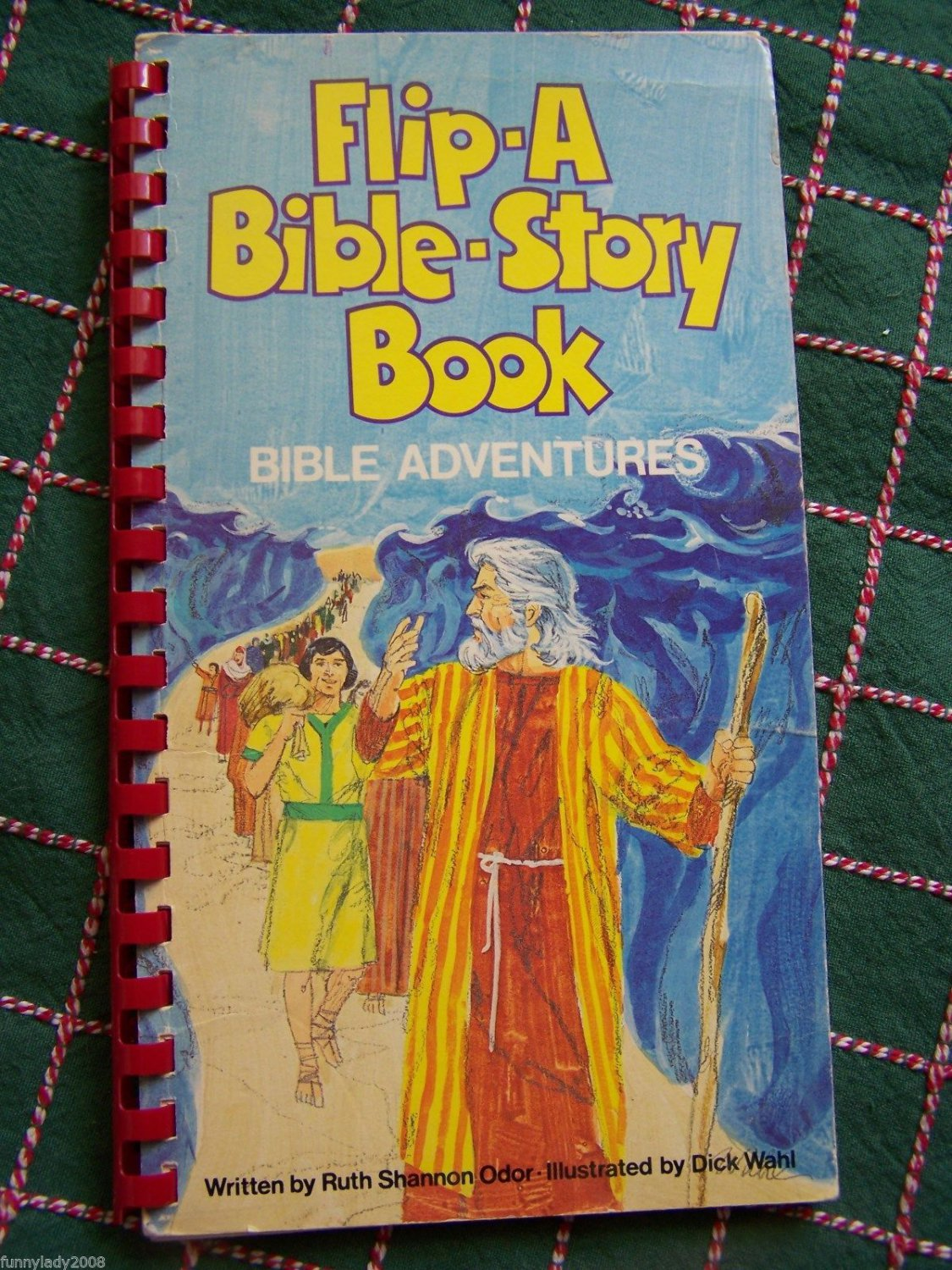 Vintage 1980's Flip A Bible Story Book Adventures Children's Scriptures Spiritual Stories