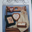 Vintage 1980s  Country Cross Stitch Embroidery Patterns Hearts Of Course Pat Thode AC 33