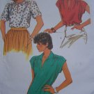 Misses Vintage Sewing Pattern Sz 12 Summer Pullover Tops Shirts Blouse 6367 Bust 34