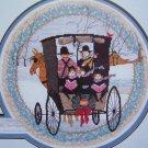 P Buckley Moss Cross Stitch Embroidery Pattern Christmas Carol Sampler 113 Vintage