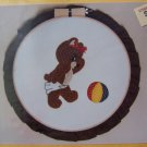 Uncut Vintage Country Crafts Machine Applique Hoop Pattern  Bear Bottom By Joan Adams
