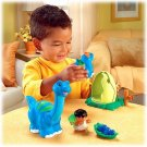 Fisher Price Little People Lil' Dino Brontosaurus set of Dinosaurs