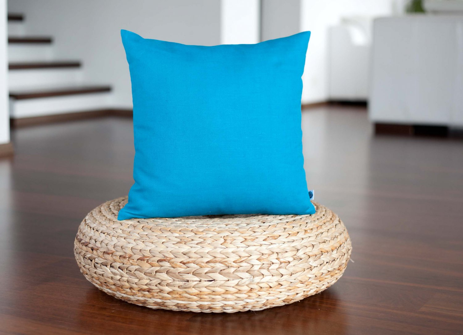 Blue pillow cover in 16x16 inch size
